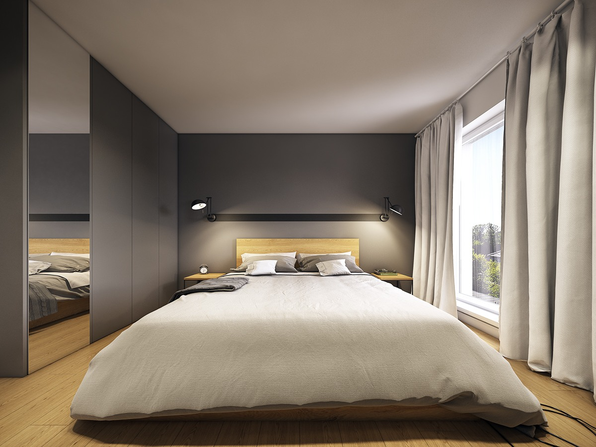 Minimalist And Simple Bedroom Design With Gray Shades ... on Minimalist Bedroom Design  id=93770