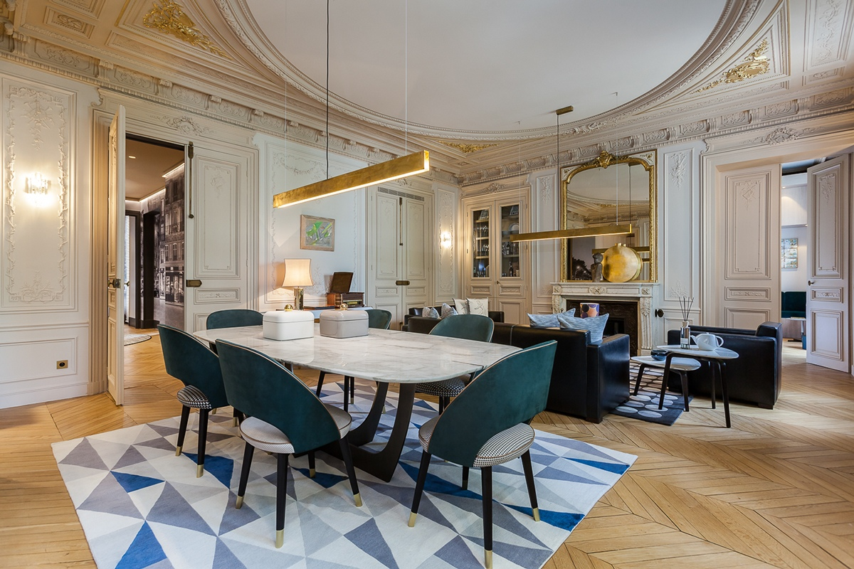 Modern Luxury Apartment Interior Design By Mathieu Fiol