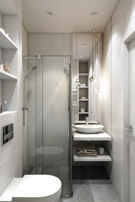 2 Small Apartment with Modern Minimalist Interior Design ... on Apartment Bathroom Ideas  id=54132