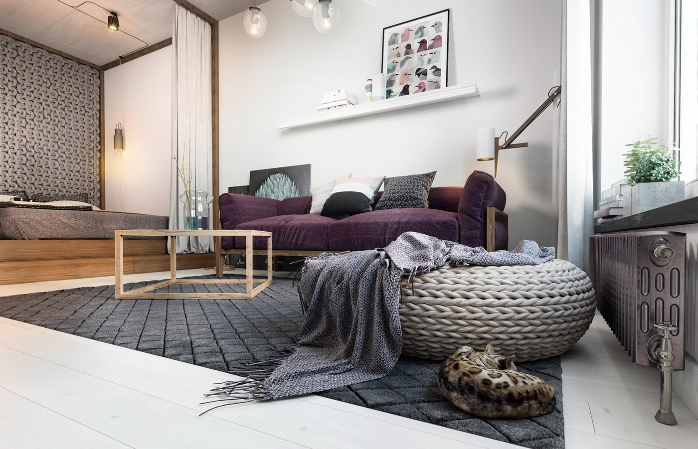 Small Apartment Design With Scandinavian Style That Looks ... on Apartment Decorating Styles  id=59959