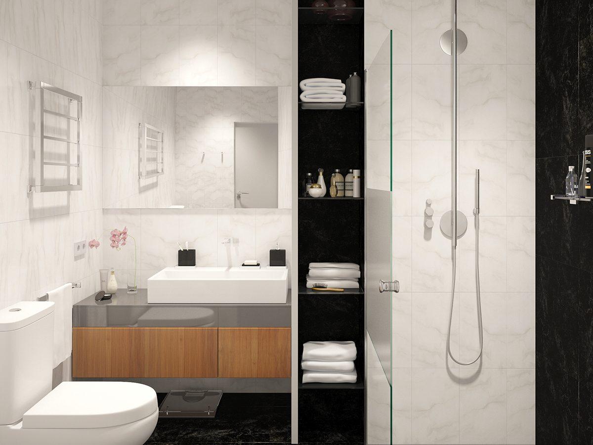 Studio Apartment Interior Design With Cute Decorating ... on Apartment Bathroom  id=29453