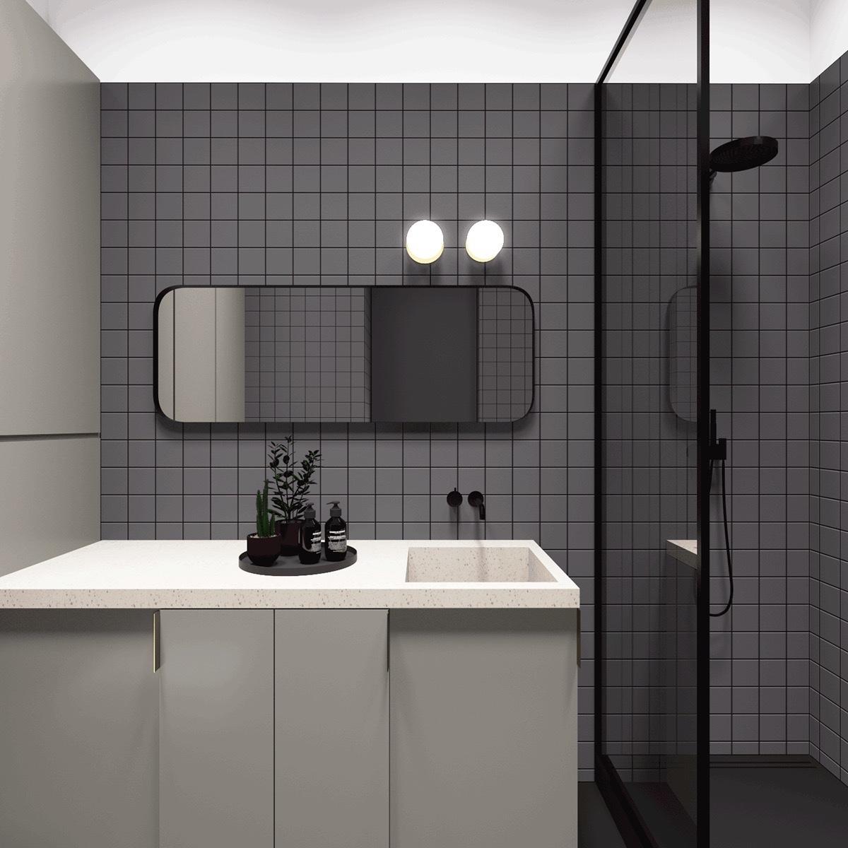 600 Square Feet Apartment Design With Wonderful Maximalist ... on Apartment Bathroom Ideas  id=71583