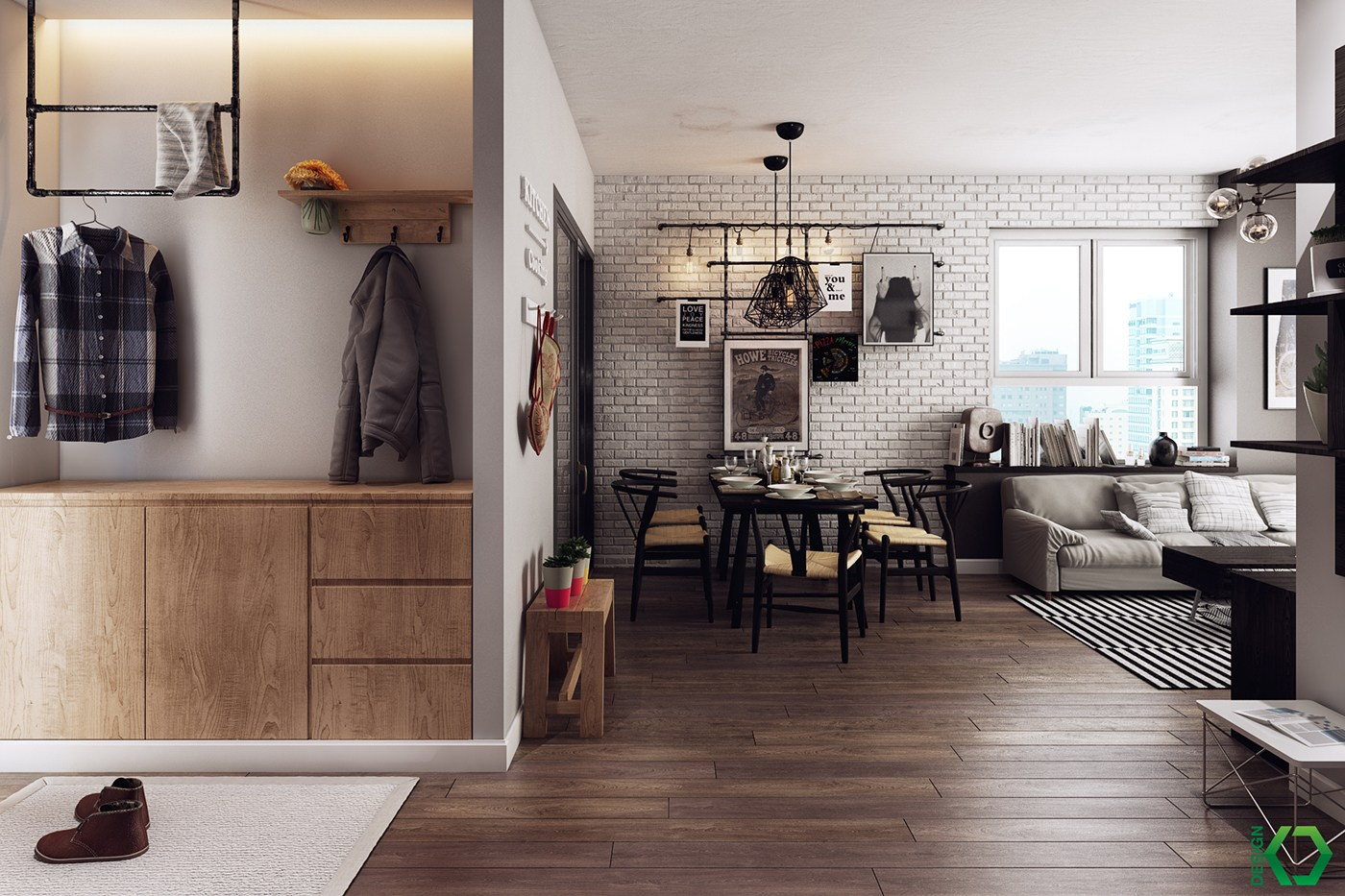 A Charming Nordic Apartment Interior Design by Koj Design ... on Apartment Decorating Styles  id=67024