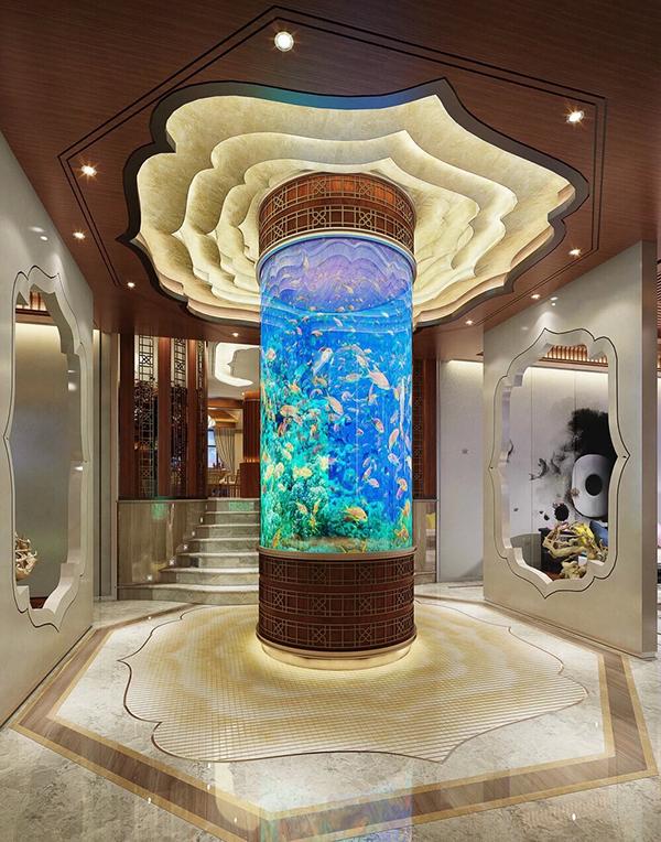 Luxury Home Interiors With Beautiful Aquarium Decor RooHome