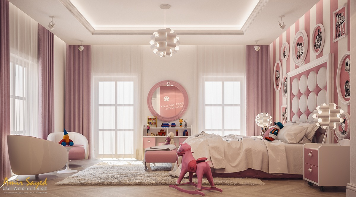 Attractive Girls Bedroom Decorating Ideas With Beautiful ... on Beautiful Room For Girls  id=43727