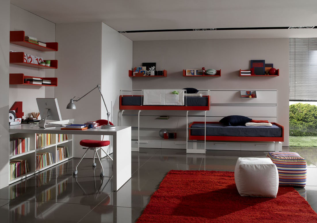 Bright Color Theme For Teens Room Decorating Ideas by Zalf ... on Room Decorations For Teens  id=70110