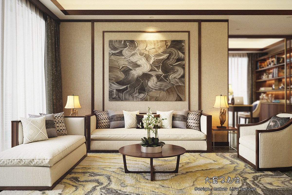 Beautiful Apartment Interior Design With Chinese Style ... on Apartment Decorating Styles  id=58634