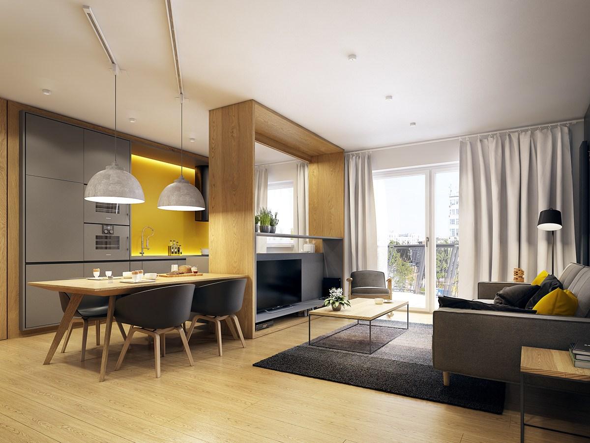 Small Open Plan Apartment Interior Design Ideas - Novocom.top