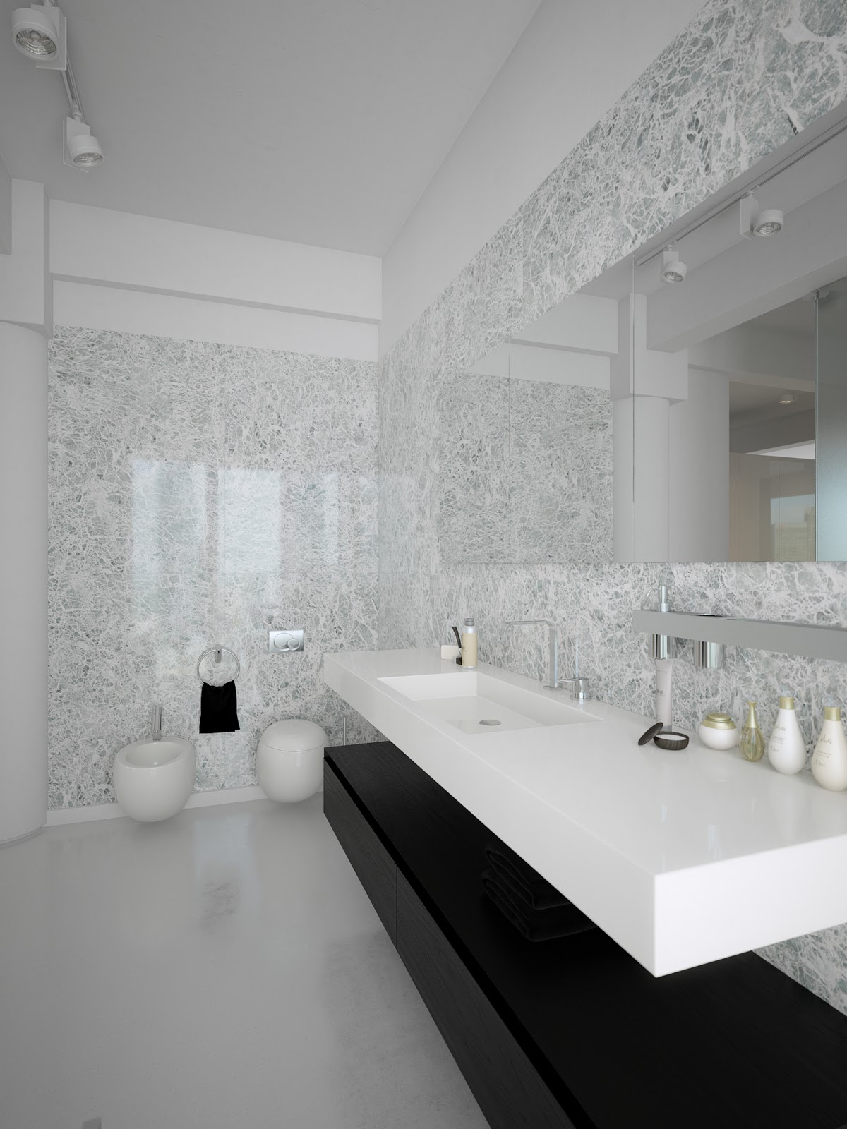 Trendy Bathroom Design Ideas Combined With White Color ... on White Bathroom Design Ideas  id=66308