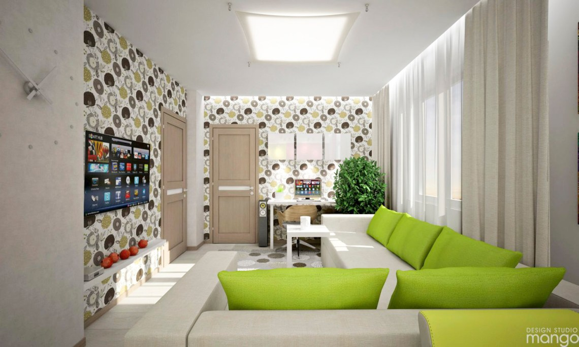 Modern Apartment Design Decorated With Beautiful Wallpaper And Soft Color Design Ideas Roohome