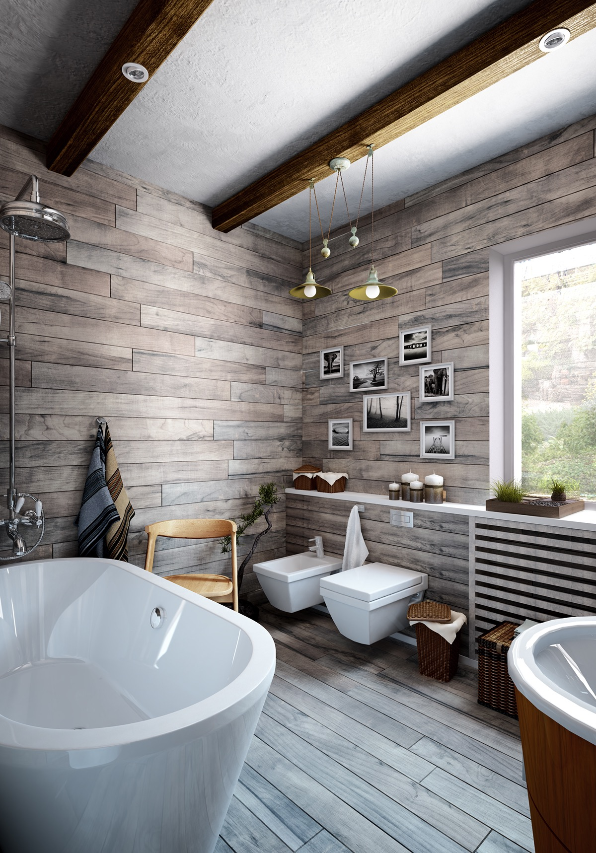 Modern Bathroom Design Ideas Using a Wooden Accent As The ... on Main Bathroom Ideas  id=42893