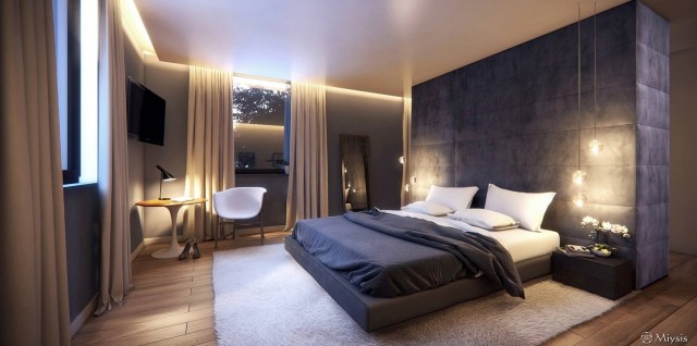 An Easy Way To Create Minimalist Bedroom Decorating Ideas With Dark Color Concept Design Looks Outstanding Roohome