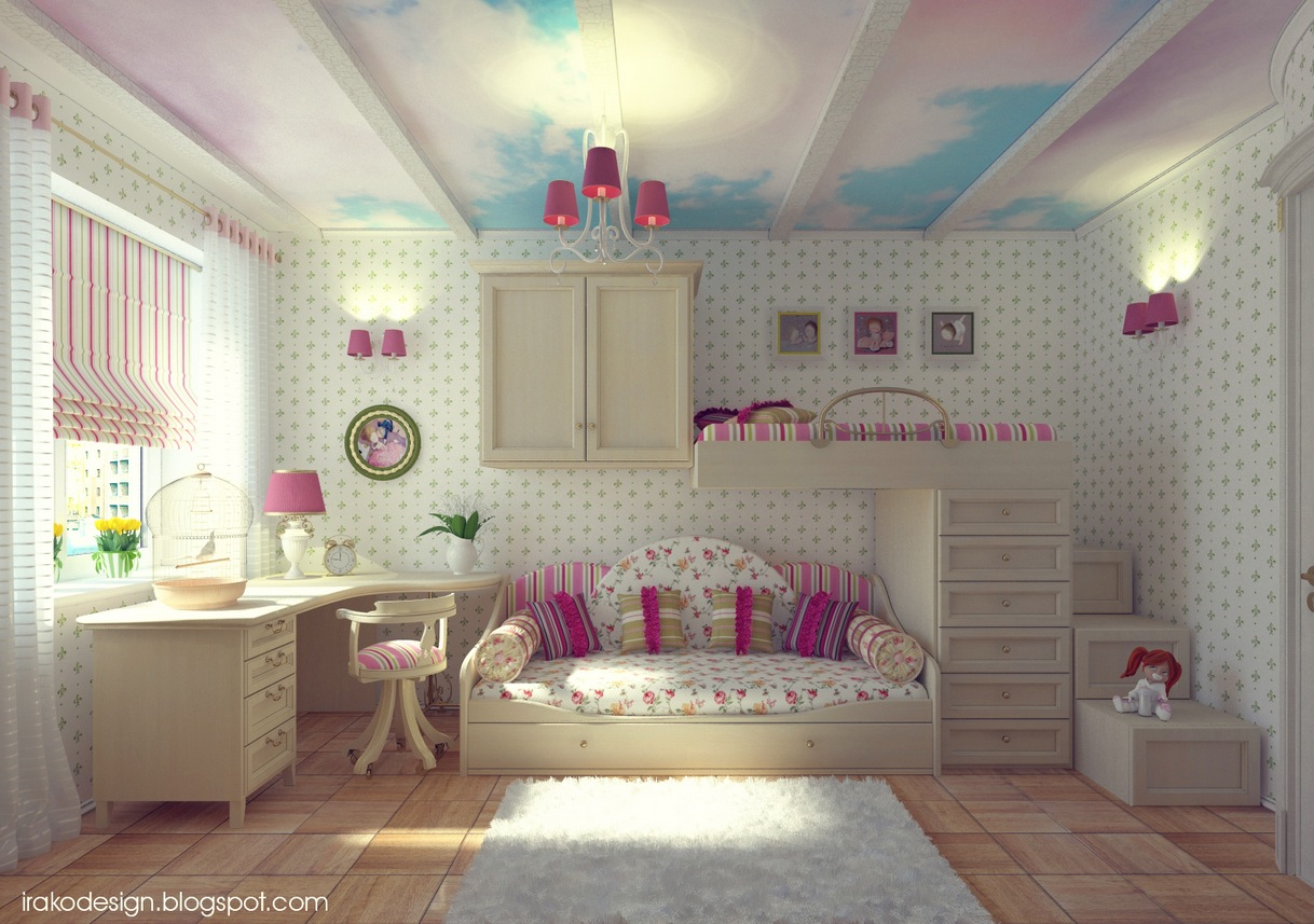 Attractive Girls Room Decor Which Applying Pink Color ... on Beautiful:9Ekmjwucuyu= Girls Room Decoration  id=85636