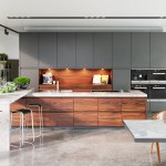 Contemporary Kitchen Set Designs Includes A Luxury And