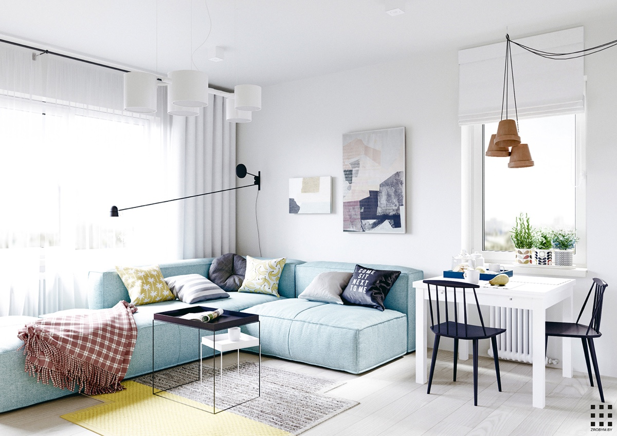 Scandinavian apartment design with beautiful and cute ... on Apartment Decorating Styles  id=28916