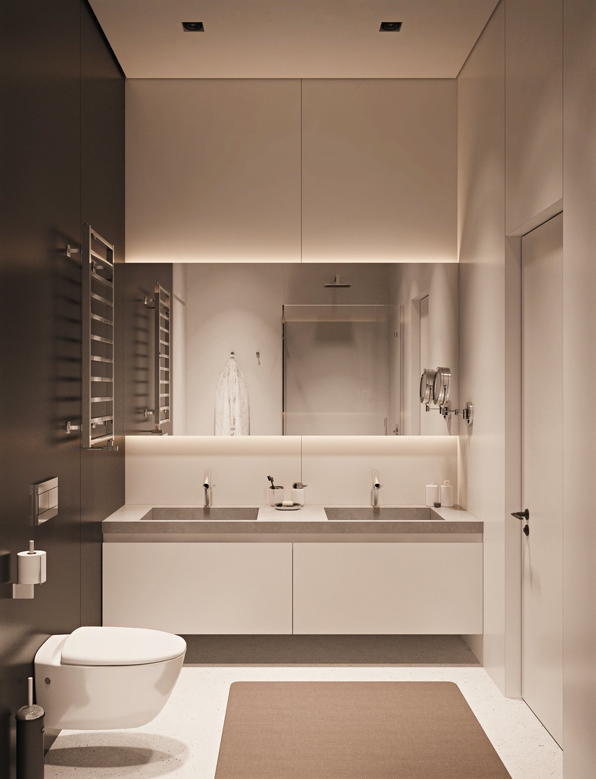 Small Space Apartment Designs with Modern and Luxury decor ... on Monochromatic Bathroom Ideas  id=11938