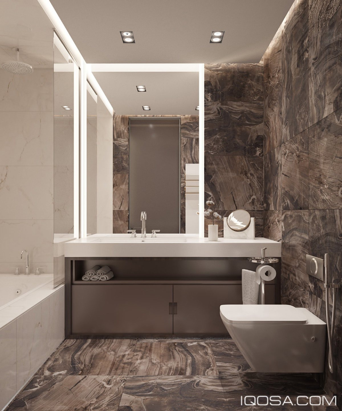 Luxurious Studio Apartment Matched With Modern and ... on Apartment Bathroom  id=26191