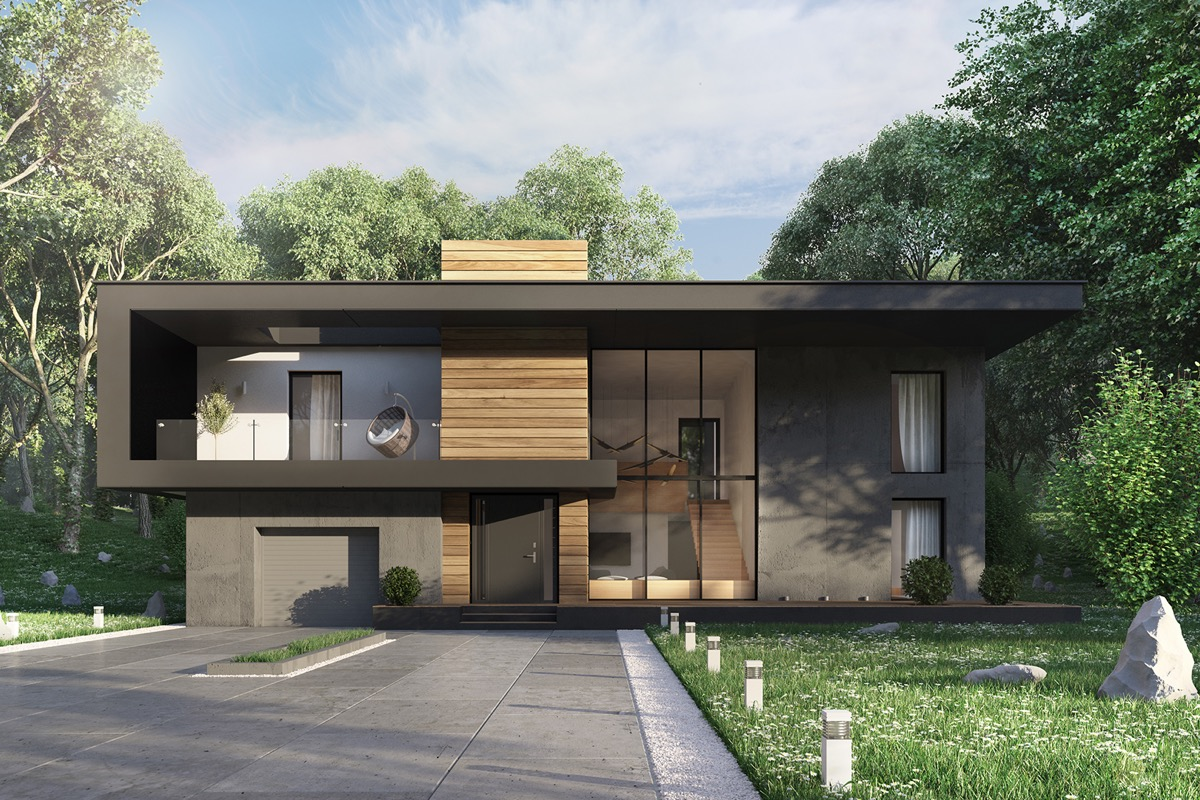 Types Of Modern Home Exterior Designs With Fashionable and ... on Modern House Ideas  id=52063