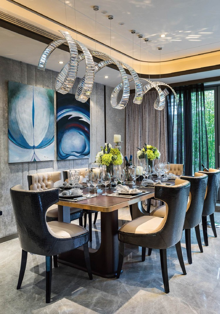 Variety of Gorgeous Lighting For Luxurious Dining Rooms ... on Room Decor  id=51634