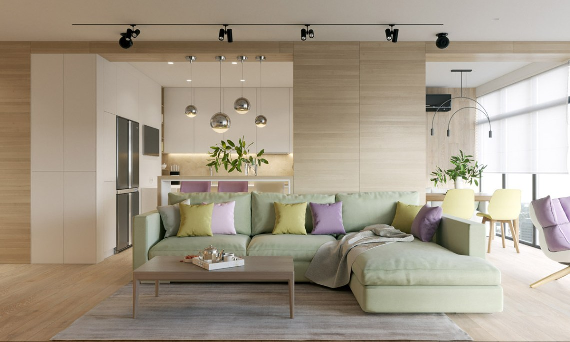 Modern House Design Using a Wooden Accent and Pastel Color ...