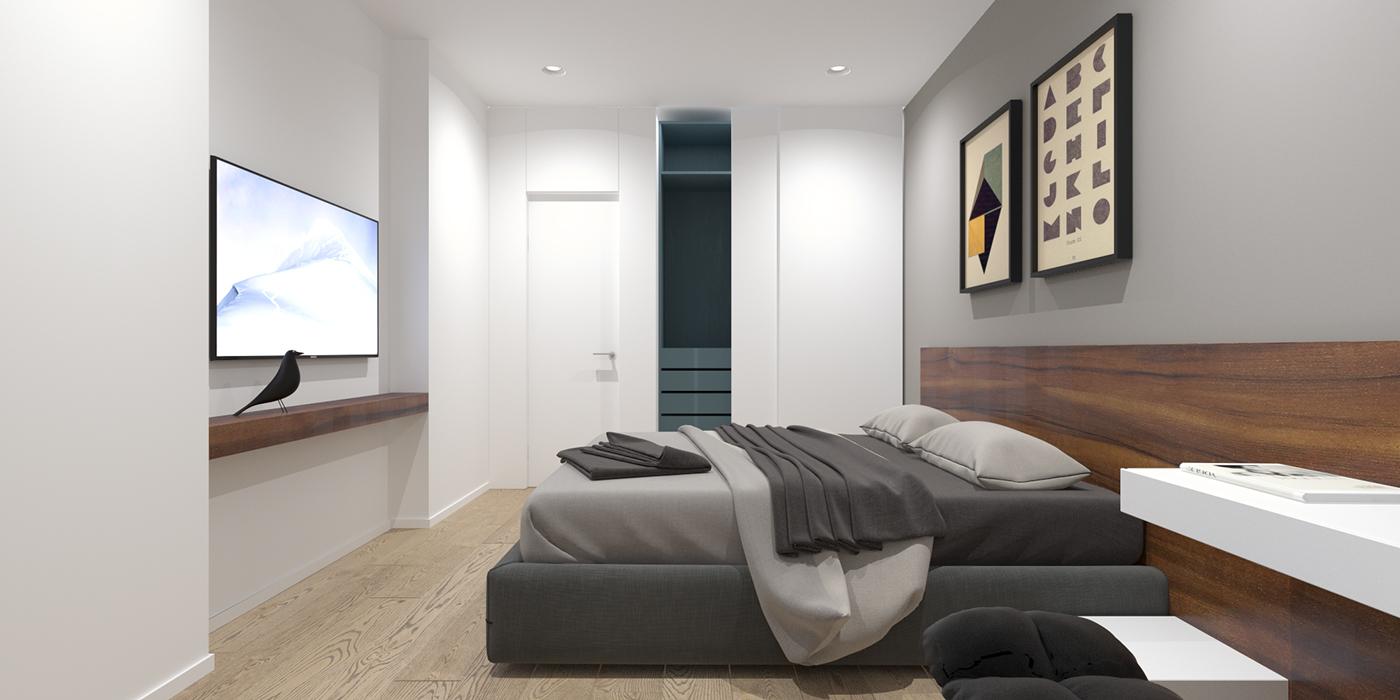 2 Modern Minimalist Home Design Exposed Brick and Wooden ... on Bedroom Minimalist Design  id=47795