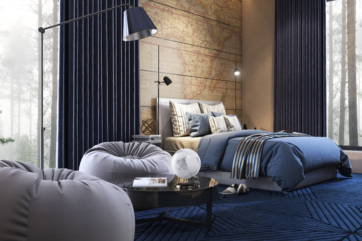 Beautiful Bedrooms with Creative Accent Wall Ideas Looks ... on Creative Wall  id=39699