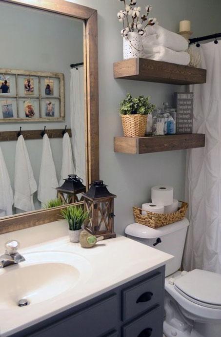 Simple Small Bathroom Decor Brings The Ease Inside Of It ... on Bathroom Ideas Apartment  id=21283