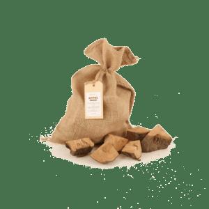 Appel Rookhout Chunks 1 kg voorkant met los