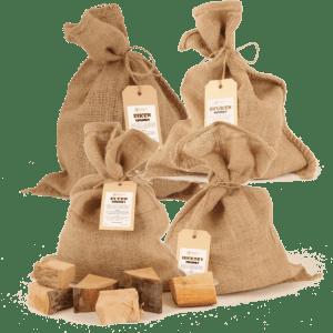 Rookhout Chunks voor Varken