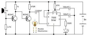 Clap Switch Circuit | Rookie Electronics | Electronics & Robotics Projects