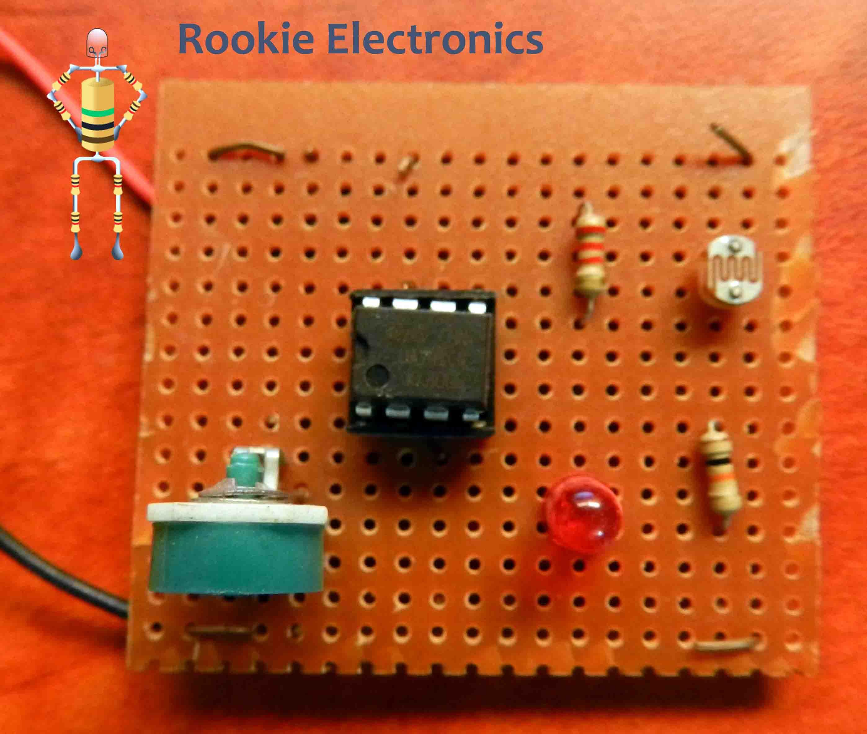 Simple Light Sensor Using 741 Op Amp Rookie Electronics