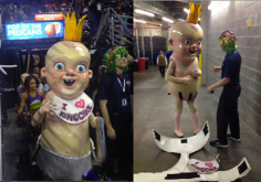 6. Be the man/woman inside of the King Cake Baby costume to describe if it was just as terrifying on the inside as it was on the outside.