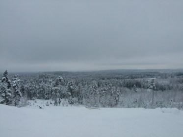 Skigebiet von Vihti, 50km von helsinki entfernt.
