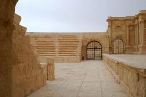 Das Theater von Palmyra war während meines Besuchs im Jahr 2008 wegen Renovierung geschlossen.