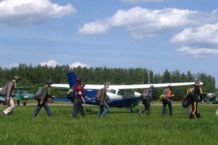 Fallschirmspringen, Vilnius, Tandemsprung, Fallschirm, Skydiving