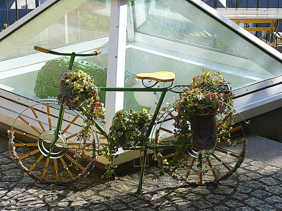 Fahrrad Blumenständer Blumenkorb