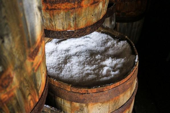Im Hering-Museum in Siglufjordur hat man sogar Fässer mit Pökelsalz präpariert.