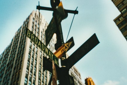 Straßenschild Broadway New York