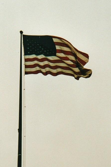 Liberty Island amerikanische Flagge