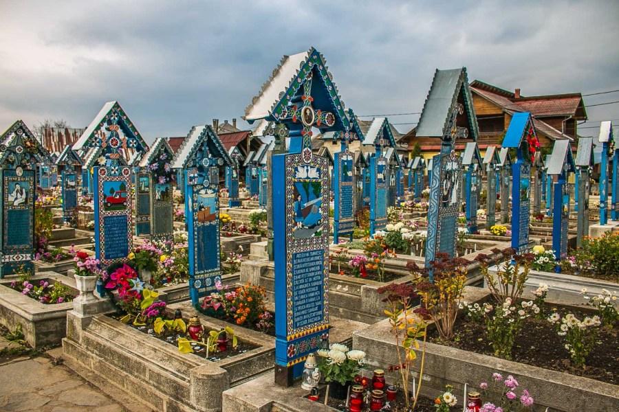 Fröhlicher Friedhof Sapanta Maramures Rumänien