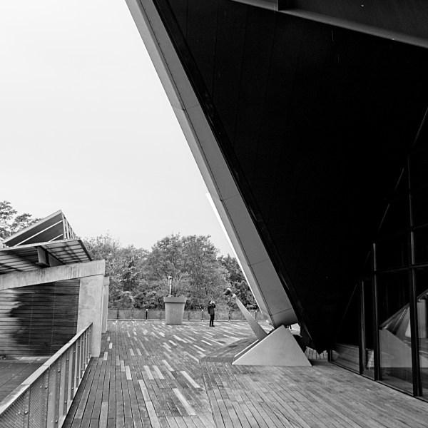 Projecting roof of Tempodrom, Berlin