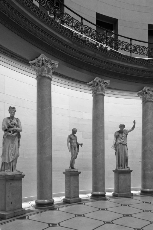 Columns supporting gallery. Altes Museum Berlin