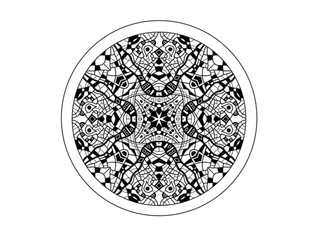 Circular drawing inspired by Aztec design