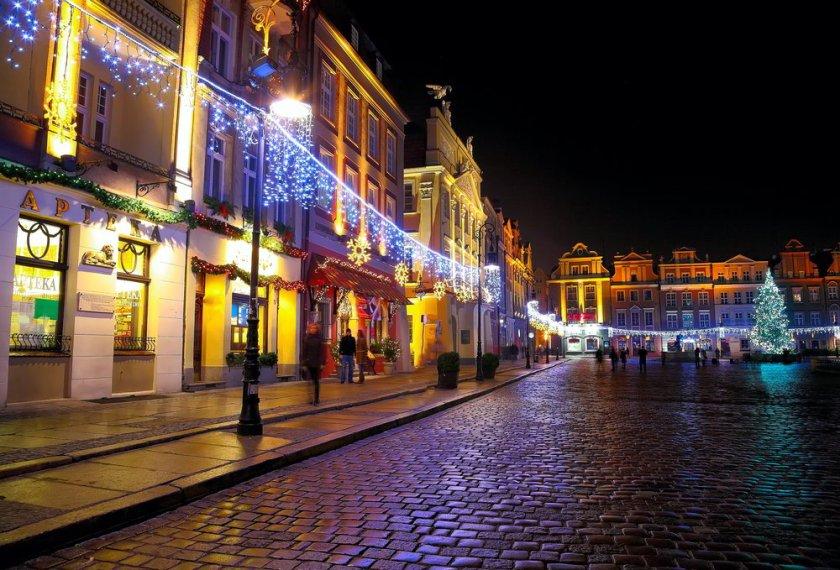 ciudad en navidad