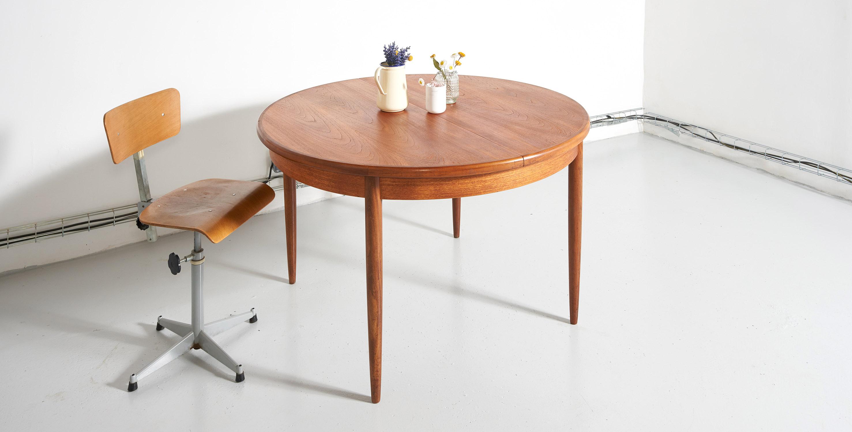 sur commande conciergerie table a manger extensible g plan 1960 style scandinave room 30