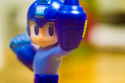 Mega Man enters the fray. (Photo by Cornelius Thompson)