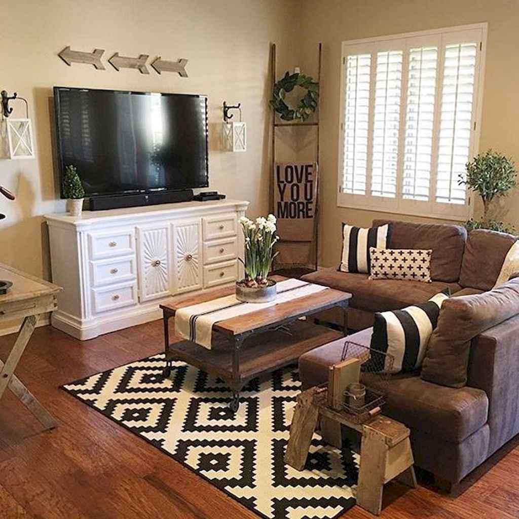 45 amazing rustic farmhouse style living room design ideas ...