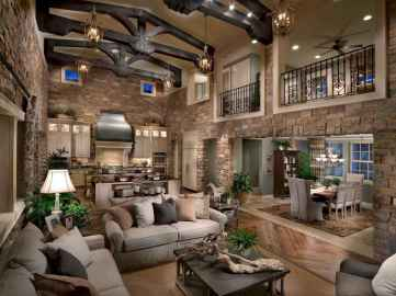 45 amazing rustic farmhouse style living room design ideas (37)