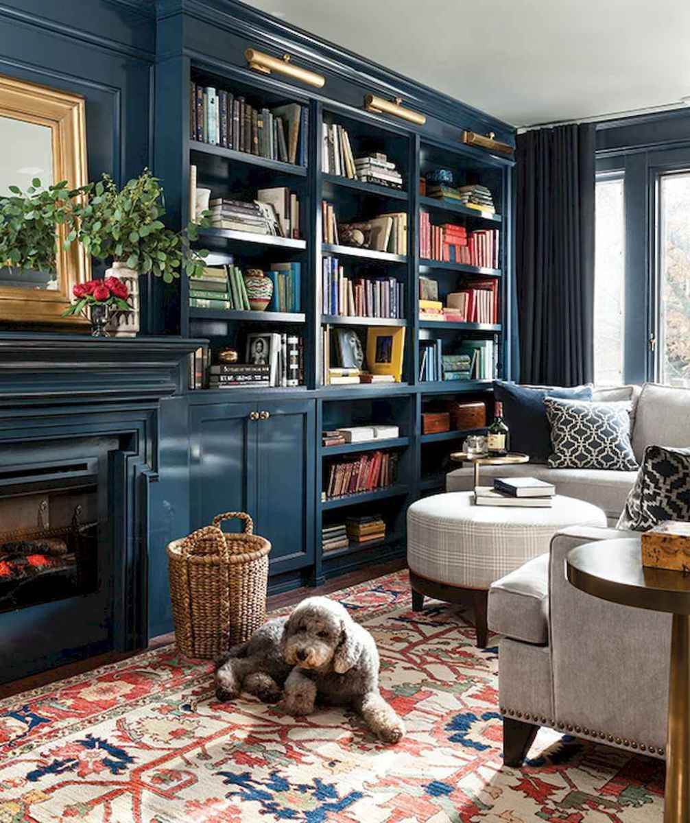 60 amazing eclectic design ideas for your library room (11)