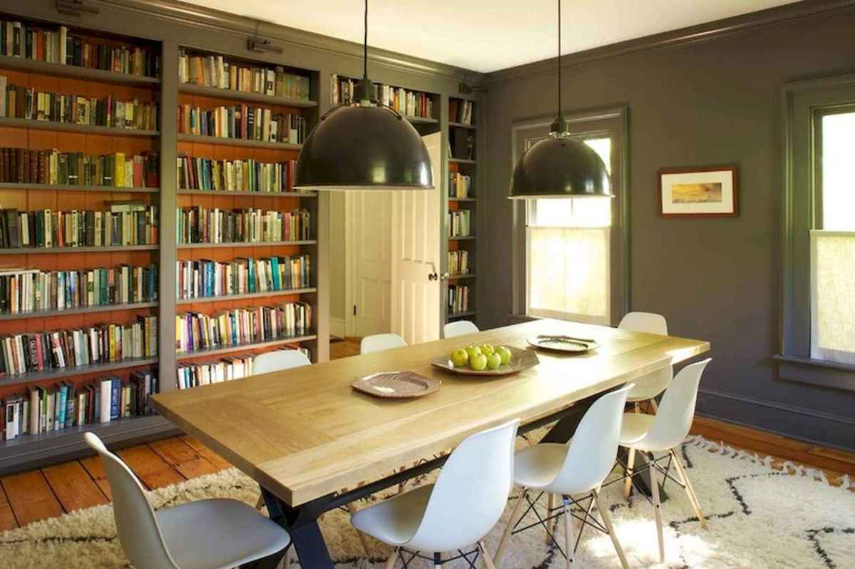 60 amazing eclectic design ideas for your library room (27)